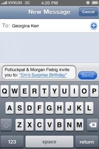 4 Potluck Pal Message
